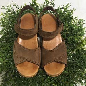 Dansko Open Toe Brown Clog Sandal